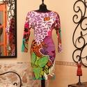 Különleges virágok és színek, levelek ruha, Ruha, divat, cipő, Női ruha, Ruha, Vigyél színt a szürke hétköznapokba...  Egyedi mintájú és színvilágú tavaszi ruha, egyéniség felső f..., Meska