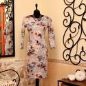 Pasztell téli álom ruha, Ruha, divat, cipő, Női ruha, Ruha, Vigyél színt a szürke hétköznapokba...  Gyönyörű  színvilágú hangulatos ruha.  Dekoratív, 3/4-es ujj..., Meska