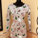 Karácsony váró vidám tunika, Ruha, divat, cipő, Női ruha, Felsőrész, póló, Blúz, Vigyél színt a szürke hétköznapokba...  Kedves tunika már a karácsonyi várakozás jegyében...  Dekora..., Meska