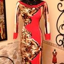 A NŐ pirosban aranyban csipkében ruha, Ruha, divat, cipő, Női ruha, Ruha, Vigyél színt a szürke hétköznapokba... Indulhat a farsangi - báli szezon!  Alkalmi, ünnepi  színvilá..., Meska