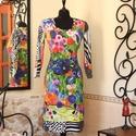 Tarka virágos rét, Táska, Divat & Szépség, Ruha, divat, Női ruha, Ruha, Vigyél színt a szürke hétköznapokba...  Akvarell hatás, festői színek, különleges mintavilág, vidám ..., Meska