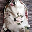 Kenyereszsák - romantikus rózsás , NoWaste, Otthon & lakás, Bevásárló zsákok, zacskók , Konyhafelszerelés, Kenyértartó, Elég volt a papírszalvétákból, nejlonzacskókból, fóliába csomagolt uzsonnákból, eldobható műanyag cs..., Meska