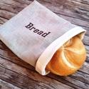 Snackbag bread hímzett, facsipesszel - újraszalvéta, NoWaste, Otthon & lakás, Textilek, Kendő, Konyhafelszerelés, Elég volt a papírszalvétákból, nejlonzacskókból, fóliába csomagolt uzsonnákból, eldobható műanyag cs..., Meska