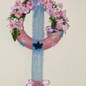 Virágos-madárkás, tavaszi kopogtató, pasztell színekben!, Otthon, lakberendezés, Dekoráció, Kaspó, virágtartó, váza, korsó, cserép, Dísz, Virágkötés, Virágos-madárkás, tavaszi kopogtató, pasztell színekben. Átmérője 22cm. Saját készítésű termék ! Sz..., Meska