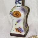 Romantikus, levendula-mintás üveg vagy váza !, Dekoráció, Otthon, lakberendezés, Kaspó, virágtartó, váza, korsó, cserép, Dísz, Decoupage, szalvétatechnika, Romantikus, levendula-mintás üveg vagy váza. Magassága 20cm, űrtartalma 5 dl. Saját készítésű termé..., Meska