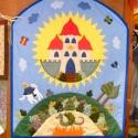 Mesés falikép, Dekoráció, Otthon, lakberendezés, Falvédő, Patchwork, foltvarrás, Varrás, Falikép gyerekszobába, óvodába, kisgyerekek által használt közösségi terekbe. Sok-sok munkaórában ..., Meska