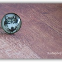 Farkasos gyűrű, Ékszer, Gyűrű, A lencse alá farkas képét tettem Fém alappal készült gyűrű.Mérete állítható. Lencse mér..., Meska