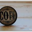 Coffee love-gyűrű , Ékszer, Gyűrű, Kávéimádónak 'kötelező' Mérete:25mm, Meska