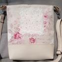 Summer roses, Táska, Válltáska, oldaltáska, Varrás, Bézs textilbőr és rózsás vászon ötvözete ez a táska. Visszafogott és elegáns, hétköznapra és alkalo..., Meska