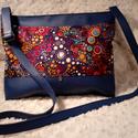 Ági táska BF-E410, Táska, Válltáska, oldaltáska, Varrás, Különlegesen dekoratív designer mintával készült sötétkék táska. Mérete: 25*30*5 cm Külső rész anya..., Meska