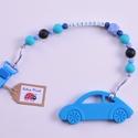 Kék AUTÓS rágcsalánc és cumilánc egyben, Baba-mama-gyerek, Játék, Baba-mama kellék, Baba játék, Igazi fiús rágcsalánc egy kék autós medállal a végén,  műanyag csattal. A  medál könnyedén levehető ..., Meska