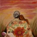 Szeretet, Képzőművészet, Festmény, Pasztell, Grafika, Fotó, grafika, rajz, illusztráció, Festészet, Pasztell krétával készült 30 x 40-es méretű kép.  Keret és paszpartu nélkül küldöm, gondosan csomag..., Meska