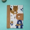 maci - róka egészségügyi kiskönyv borító, Játék & Gyerek, 3 éves kor alattiaknak, Varrás, Új, egyedileg készített, kétrétegű pamutvászon anyagból készült, vetexel merevített egészségügyi ki..., Meska