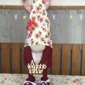 Manók , Otthon & lakás, Dekoráció, Dísz, Varrás, Horgolás, Cuki 65 cm magas álló , variálható színű feliratú manók . Ballagási , szülinapi , névnapi ajándékna..., Meska