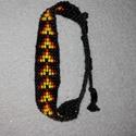 Szőtt gyöngy karkötő, Ékszer, Karkötő, Szőtt gyöngy karkötő: 1,5cm széles, 11,5+8cm állítható,nikkelmentes gyöngy karkötő egyedi..., Meska