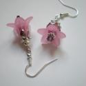 Rózsaszín harangvirág fülbevaló, Ékszer, Fülbevaló, Fülbevaló imádó hölgyek figyelmébe ajánlom legújabb virágos sorozatom különleges darabját. Biztos le..., Meska