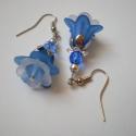 Blue dream fülbevaló, Ékszer, Fülbevaló, Fülbevaló imádó hölgyek figyelmébe ajánlom legújabb virágos sorozatom különleges darabját. Biztos le..., Meska
