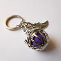 Angyalhívó kulcstartó 1. (rácsos), Ékszer, Mobilékszer, Az angyalhívó nyaklánc kulcstartó változata. Kulcsaid őrzőjeként mindig veled lehet! Férfia..., Meska