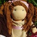 Hagyományos waldorf öltöztetős gyapjúbaba (nagyobb), Baba-mama-gyerek, Játék, Képzőművészet, Baba, babaház, Baba-és bábkészítés, Varrás, A baba, a hagyományos waldorf babák mintájára készül természetes anyagokból.  Töltete gyapjú, haja ..., Meska