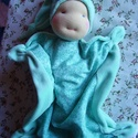 Szundi manó (nagyobb), Baba-mama-gyerek, Játék, Képzőművészet, Baba, babaház, Baba-és bábkészítés, Varrás, A baba, a waldorf babák mintájára készül természetes anyagokból.  Töltete gyapjú, ruhája puha plüss..., Meska