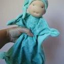 Szundi manó (kisebb), Baba-mama-gyerek, Játék, Képzőművészet, Baba, babaház, Baba-és bábkészítés, Varrás, A baba, a waldorf babák mintájára készül természetes anyagokból.  Töltete gyapjú, ruhája puha plüss..., Meska