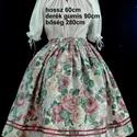 Virág mintás szoknya, Ruha, divat, cipő, Gyerekruha, Kamasz (10-14 év), Varrás, Virág hímzés mintás pörgős szoknya, 140-146-os méretben, 9-12 éveseknek. Anyaga pamutvászon. Hagyom..., Meska