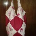 Pamutvászon bélelt táska, Táska, Szatyor, Pamutvászon táska, középen mágneses patenttal záródik.A táskafül hossza 55 cm. A táska hos..., Meska