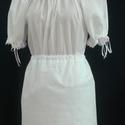 Néptáncos kisalsó, pendely, Ruha, divat, cipő, Női ruha, Szoknya, Varrás, Néptáncos kellék. pendely, kis alsószoknya.  Fehér pamutvászonból, alján csipkével.  Mérete: hosszú..., Meska