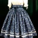 Felnőtt néptánc próbaszoknya 60-80 cm, Ruha, divat, cipő, Női ruha, Szoknya, Anyaga pamutvászon. Hagyományos ráncolt derekú, körbetekerős megkötővel. Ajánlom próba és..., Meska