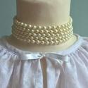Gyöngy nyaklánc, Ékszer, Nyaklánc, Gyerekruha, Műanyag  gyöngyből fűzött nyaklánc,  mérettől függően  felnőttnek vagy kislánynak.  Hossza soronként..., Meska