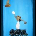 Nagy kavics falikép, Dekoráció, Mindenmás, A kép címe: Búcsúzni nehéz  Szabad kézzel festett , akril festék felhasználásával és kavi..., Meska