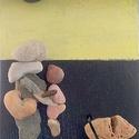 Kavicsokból készített falikép, Dekoráció, Képzőművészet, Dísz, Illusztráció, Mozaik, Kavicsokból készített falikép,falapra. A kép címe : Anya  Egyedi és utánozhatatlan, mivel két egyfo..., Meska