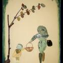 Kavicsokból készített falikép, Dekoráció, Kép, Mozaik, Kavicsokból és kövekből készített falikép, falapra. Különleges ajándék lehet karácsonyra, érdekessé..., Meska