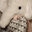 Baba, a szuperelefánt, Baba-mama-gyerek, Játék, Plüssállat, rongyjáték, Játékfigura, Varrás, Magasság: 27 cm, szélesség: 20 cm. Pamutvászonból és pihe-puha műszőrméből készült játékelefánt. Az..., Meska