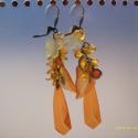 Narancssárga sok lógós fülbevaló, Ez a fülbevaló önmagában is megállja a helyé...