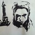 The Witcher póló, Ruha, divat, cipő, Festészet, Egyedi, szabadkézzel rajzolt póló. A képen Ríviai Geralt szerepel a Witcher nevű számítógépes játék..., Meska