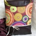Aurora borealis - textilbőr táska, Táska, Ruha, divat, cipő, Válltáska, oldaltáska, Egy eredeti, igazi vidám és elegáns darab, mely fiatalosságát a textilbőr és a puha amerikai szövet ..., Meska