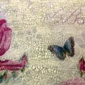 Tavaszi virágos kerek dobozka, Otthon, lakberendezés, Ajtódísz, kopogtató, Festett tárgyak, Famegmunkálás, Ez a dobozka  Tavaszi virágos szalvétát dekupázsoltam rá, majd színre festettem és a  feliratot tra..., Meska