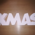 Xmas,karácsonyi dekoráció., Dekoráció, Karácsonyi, adventi apróságok, Ünnepi dekoráció, Karácsonyi dekoráció, Festett tárgyak, XMAS karácsonyi dekoráció. 4cm vastag xps lapból készült,fehér akrilfestékkel van festve. Vastagság..., Meska