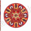 Tulipán Ragyogás - falikép , Dekoráció, Képzőművészet, Magyar motívumokkal, Kép, A/4-es akvarell kartonra, színesceruzával és zselés filccel készült saját tervezésű mandala motívum...., Meska