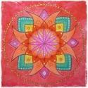 Kacagó mandala III. , Dekoráció, Képzőművészet, Kép, Festmény, Festészet, 20 x 20 cm-es, feszített vászonra készült vidám, színes, saját tervezésű mandala, melynek látványa ..., Meska