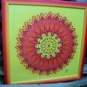 TündérÖrvény 2, Dekoráció, Kép, Fotó, grafika, rajz, illusztráció, 33*33 cm-es falikép paszpartuzva, keretezve, matt üveggel. Saját tervezésű mandala színes ceruzával..., Meska