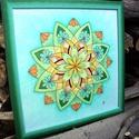 TündérÖrvény 3, Dekoráció, Kép, Fotó, grafika, rajz, illusztráció, 33*33 cm-es falikép paszpartuzva, keretezve, matt üveggel. Saját tervezésű mandala színes ceruzával..., Meska