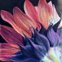 Gerbera, Képzőművészet, Dekoráció, Kép, Grafika, 23*30 cm-es kartonra, pasztell ceruzával rajzolt virág. Paszpartu és keret nélkül küldöm, gondosan c..., Meska