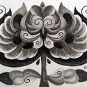 Tulipán 6, Képzőművészet, Dekoráció, Kép, Grafika, Fotó, grafika, rajz, illusztráció, A/4-es, 250 gr-os, akvarell papírra, szénceruzával rajzolt és színezett, saját tervezésű tulipán. A..., Meska