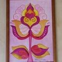 Szirmok bölcsőjében - falikép, Képzőművészet, Dekoráció, Kép, Grafika, Fotó, grafika, rajz, illusztráció, Festészet, Akvarell szirmok sorozat. 1 kép. A/4-es, 300 gr-os akvarell kartonra festett, saját tervezésű tulip..., Meska