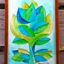 Ringató kedvesség - falikép, Képzőművészet, Dekoráció, Kép, Grafika, Fotó, grafika, rajz, illusztráció, Festészet, Akvarell szirmok sorozat. 2 kép. A/4-es, 300 gr-os akvarell kartonra festett, saját tervezésű tulip..., Meska