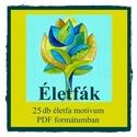 Életfák - nyomtatható színező sablon , Képzőművészet, Magyar motívumokkal, Grafika, Rajz, 25 db életfa motívumot kínálok PDF formátumban. , Meska