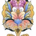 Nyomat A/4-es, Dekoráció, Magyar motívumokkal, Kép, A kép 300 gr-os Fabriano papírra készült nyomat, saját készítésű, eredetileg színes ceruzával készül..., Meska