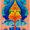 Tulipán szirmok 4, Képzőművészet, Magyar motívumokkal, Grafika, Rajz, Művészceruzával készült, A/3-as méretű tulipán rajz eredeti példányban.  Keretezés, paszpartuzás nél..., Meska